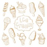 Hand drawing set of ice cream Stock Photo