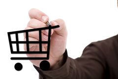 Hand drawing a shopping cart Royalty Free Stock Images