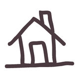 Hand drawing silhouette house icon Stock Photos