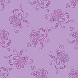 Hand drawing simple grape pattern Stock Photos