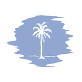 Hand drawing sketch of palm tree logotype. Vector palm tree Stock Photos