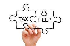 Tax Help Jigsaw Puzzle Concept stock photos
