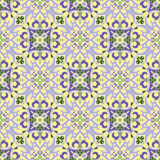 Hand drawing tile color parttern. Italian majolica style Stock Images