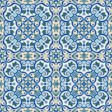 Hand drawing tile color seamless. Italian majolica style  Stock Photo