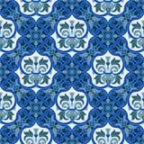 Hand drawing tile color seamless. Italian majolica style Stock Photography