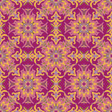 Hand drawing tile color seamless. Italian majolica style Royalty Free Stock Photography
