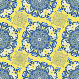 Hand drawing tile color seamless. Italian majolica style Royalty Free Stock Image
