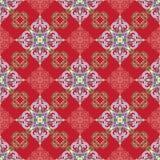 Hand drawing tile color seamless. Italian majolica style Stock Photos