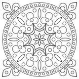 Hand drawing tile vintage black line pattern. stock illustration