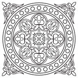 Hand drawing tile vintage black line pattern. Royalty Free Stock Photos