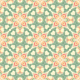 Hand drawing tile vintage color seamless. Italian majolica style Royalty Free Stock Images