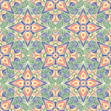 Hand drawing tile vintage color seamless. Italian majolica style Stock Images