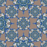 Hand drawing tile vintage color seamless. Italian majolica style Royalty Free Stock Image