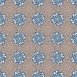 Hand drawing tile vintage color seamless. Italian majolica style Stock Photography