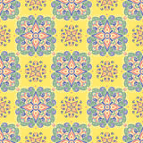 Hand drawing tile vintage color seamless. Italian majolica style Stock Photo