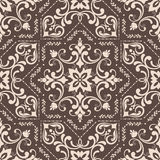 Hand drawing tile vintage color seamless pattern. Italian majolica style. Vector illustration. The best for your design, textiles, posters stock illustration