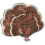 Hand drawing turkey Royalty Free Stock Image