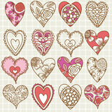 Hand drawing valentines heart, vector Stock Images