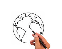 Hand drawing the world Royalty Free Stock Photo