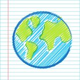 Hand drawing world map Stock Photo