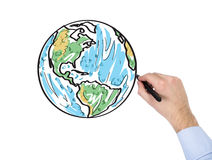 Hand drawing world map Royalty Free Stock Image