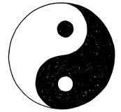 Hand Drawing of Yin Yang Jin Jang Symbol Royalty Free Stock Photo