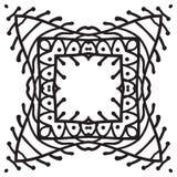 Hand drawing zentangle decorative frame Stock Photos