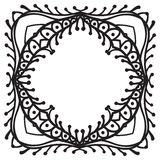 Hand drawing zentangle decorative frame Stock Image