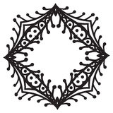 Hand drawing zentangle decorative frame Royalty Free Stock Image