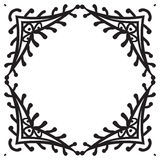 Hand drawing zentangle decorative frame Royalty Free Stock Photos