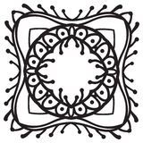 Hand drawing zentangle decorative frame Stock Images