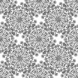 Hand drawing zentangle element. Black and white. Flower mandala. Royalty Free Stock Image