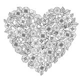 Hand drawing zentangle element. Black and white Royalty Free Stock Photos