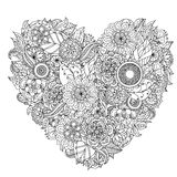 Hand drawing zentangle element. Black and white Stock Photo