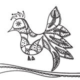 Hand drawing zentangle element. Decorative, abstract bird Royalty Free Stock Photography