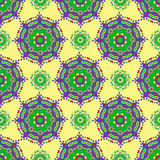 Hand drawing zentangle manala color seamless pattern. Hand drawing zentangle color seamless pattern Flower mandala. Vector illustration. Best for your design Royalty Free Stock Images