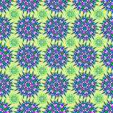 Hand drawing zentangle manala color seamless pattern. Hand drawing zentangle color seamless pattern Flower mandala. Vector illustration. Best for your design Royalty Free Stock Photography