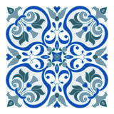 Hand drawing zentangle mandala color element. Italian majolica style Stock Photos