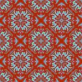 Hand drawing zentangle mandala color seamless parteern. Italian majolica style royalty free illustration