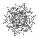 Hand drawing zentangle mandala element Stock Photos
