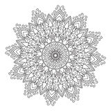 Hand drawing zentangle mandala element Royalty Free Stock Images