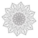 Hand drawing zentangle mandala element Royalty Free Stock Photo