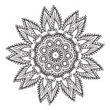 Hand drawing zentangle mandala element Stock Images