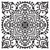 Hand drawing zentangle mandala element Stock Photography
