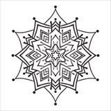 Hand drawing zentangle mandala element Stock Image