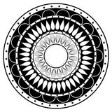 Hand drawing zentangle mandala element in black and white Stock Photos