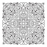 Hand drawing zentangle mandala element. Italian majolica style Royalty Free Stock Images
