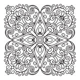 Hand drawing zentangle mandala element. Italian majolica style vector illustration