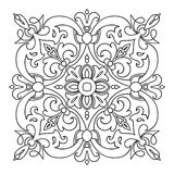 Hand drawing zentangle mandala element. Italian majolica style Royalty Free Stock Photo