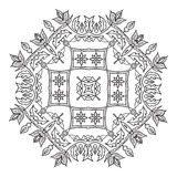 Hand drawing zentangle mandala element. Italian majolica style Stock Photo